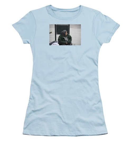 Women's T-Shirt (Junior Cut) featuring the photograph Street People - A Touch Of Humanity 9 by Teo SITCHET-KANDA