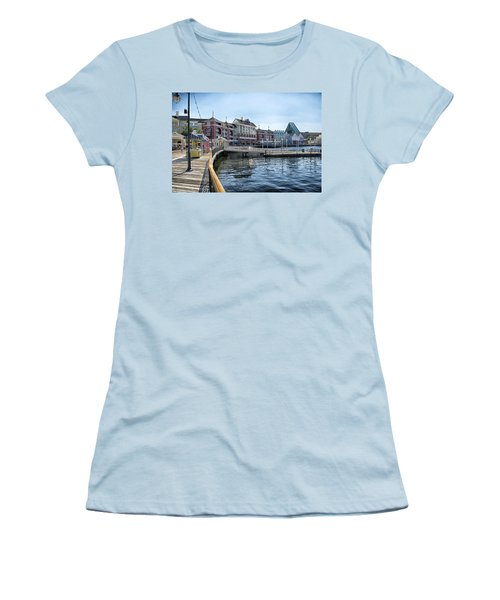 Strolling On The Boardwalk At Disney World Women's T-Shirt (Athletic Fit)