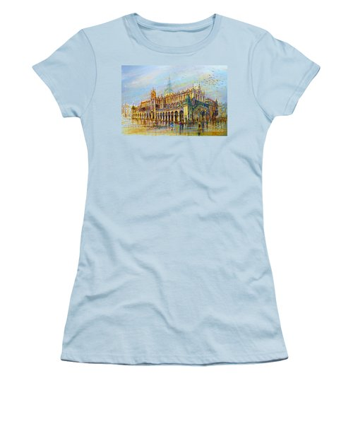 Sukiennice In Cracow Women's T-Shirt (Athletic Fit)