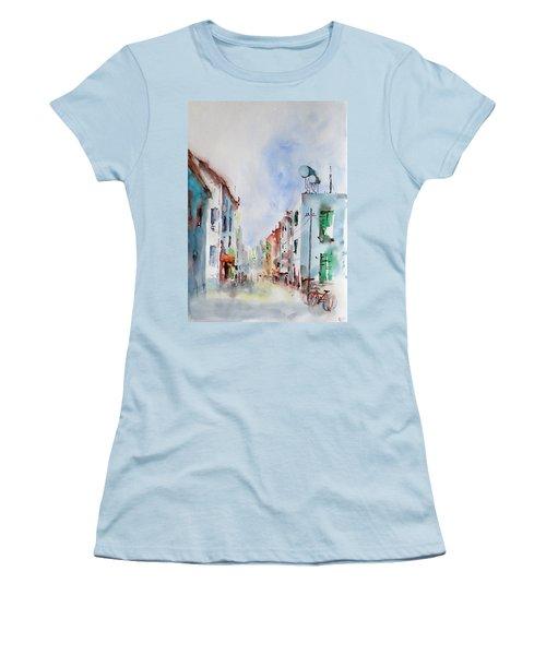 Women's T-Shirt (Junior Cut) featuring the painting Summer Morning by Faruk Koksal