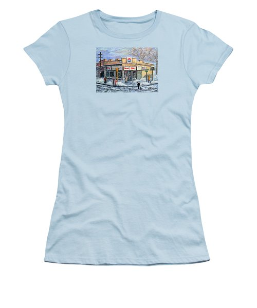 Sunday Morning At Renie's Spa Women's T-Shirt (Junior Cut) by Rita Brown
