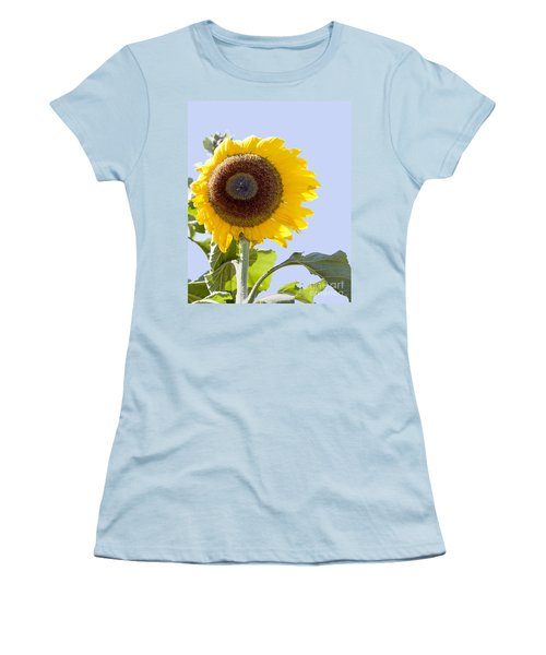 Women's T-Shirt (Junior Cut) featuring the photograph Sunflower In The Blue Sky by David Millenheft