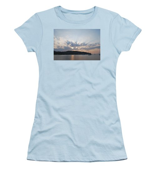Women's T-Shirt (Junior Cut) featuring the photograph Sunrise by George Katechis