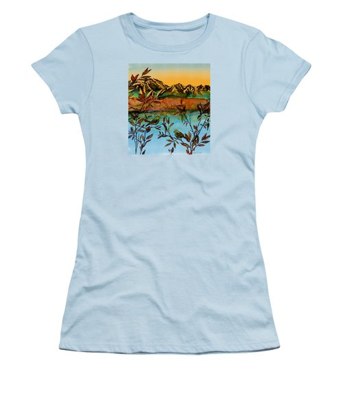 Sunrise On Willows Women's T-Shirt (Athletic Fit)