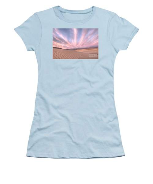 Sunrise Over Sand Dunes Women's T-Shirt (Athletic Fit)