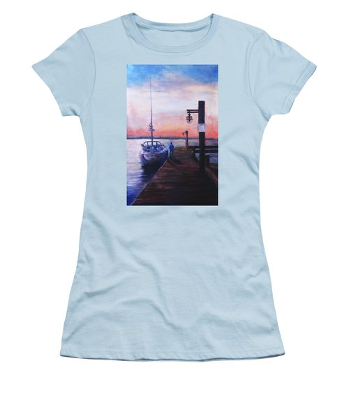 Sunset At Rocky Point Women's T-Shirt (Athletic Fit)