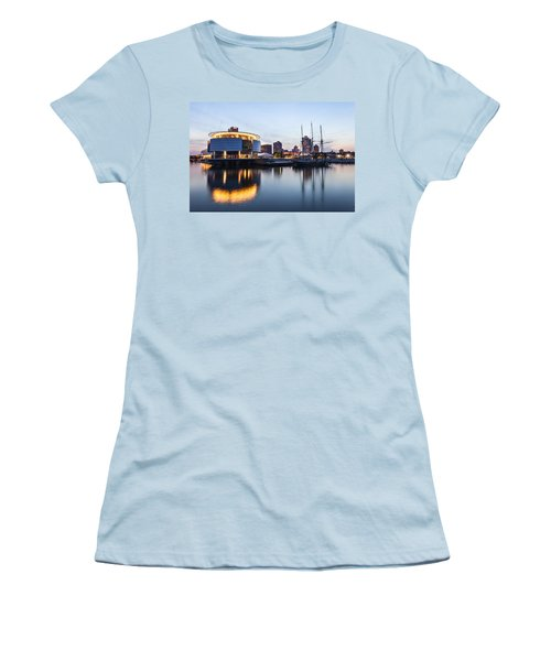 Sunset At The Dock Women's T-Shirt (Athletic Fit)