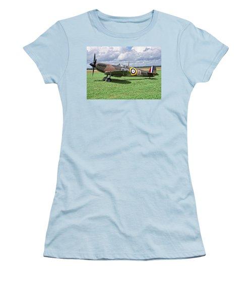 Supermarine Spitifire 1a Women's T-Shirt (Junior Cut) by Paul Gulliver