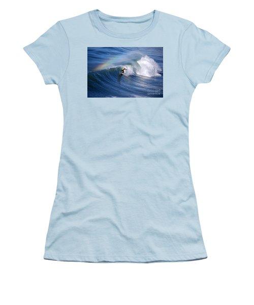 Surfing Under A Rainbow Women's T-Shirt (Junior Cut) by Catherine Sherman