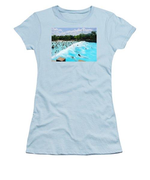 Women's T-Shirt (Junior Cut) featuring the photograph Surfs Up by David Nicholls