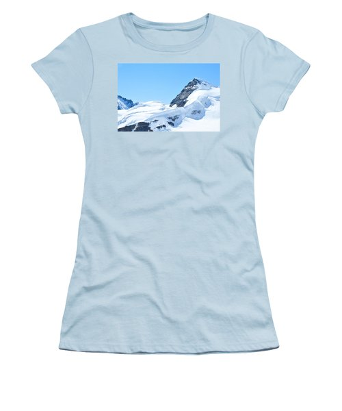 Women's T-Shirt (Junior Cut) featuring the photograph Swiss Alps by Joe  Ng