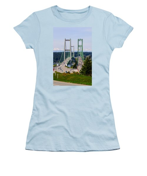 Tacoma Narrows Bridge Women's T-Shirt (Athletic Fit)