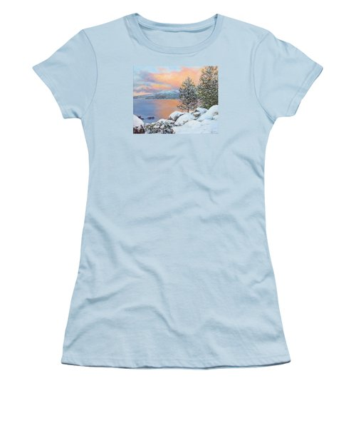 Tahoe Winter Colors Women's T-Shirt (Junior Cut) by Donna Tucker