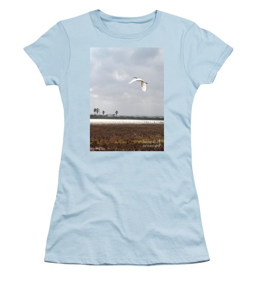Women's T-Shirt (Junior Cut) featuring the photograph Take Off by Erika Weber