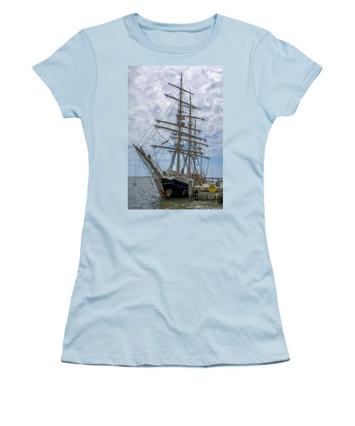 Women's T-Shirt (Junior Cut) featuring the photograph Tall Ship Gunilla Vertical by Dale Powell