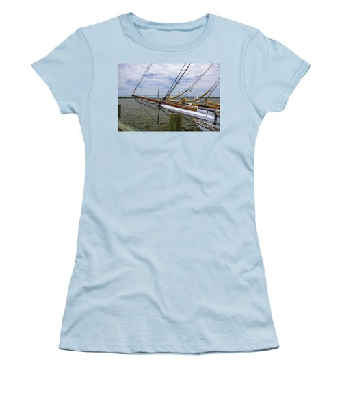 Women's T-Shirt (Junior Cut) featuring the photograph Tall Ships In Charleston by Dale Powell