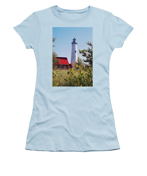 Tawas Point Lighthouse...from Tawas Bay Side Women's T-Shirt (Junior Cut) by Daniel Thompson