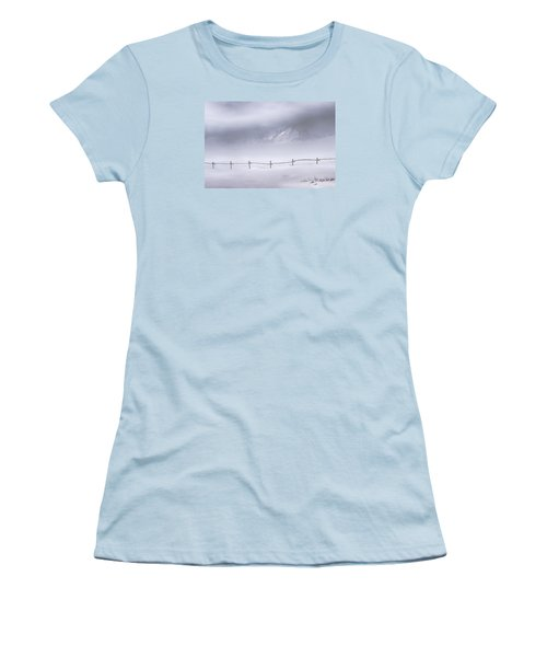 Women's T-Shirt (Junior Cut) featuring the photograph Teton Morning by Priscilla Burgers
