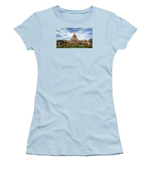 Texas State Capitol II Women's T-Shirt (Junior Cut) by Joan Carroll