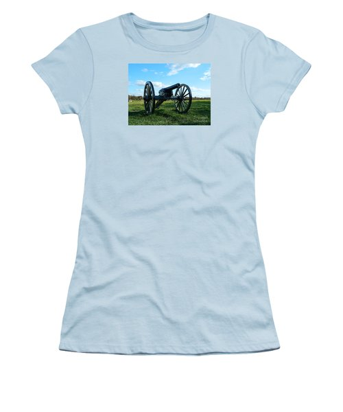 Women's T-Shirt (Junior Cut) featuring the photograph The Battle Is Over - Gettysburg by Emmy Marie Vickers