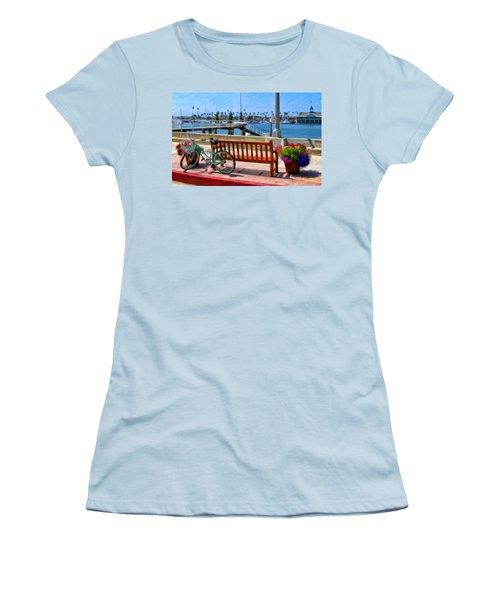 The Beach Cruiser Women's T-Shirt (Junior Cut) by Michael Pickett