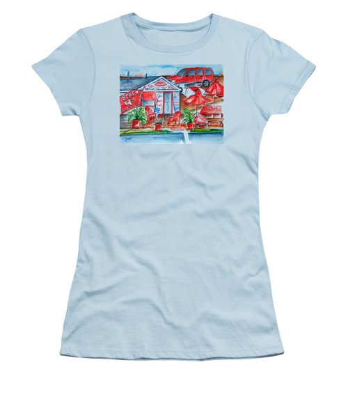 The Beach Shack Women's T-Shirt (Athletic Fit)