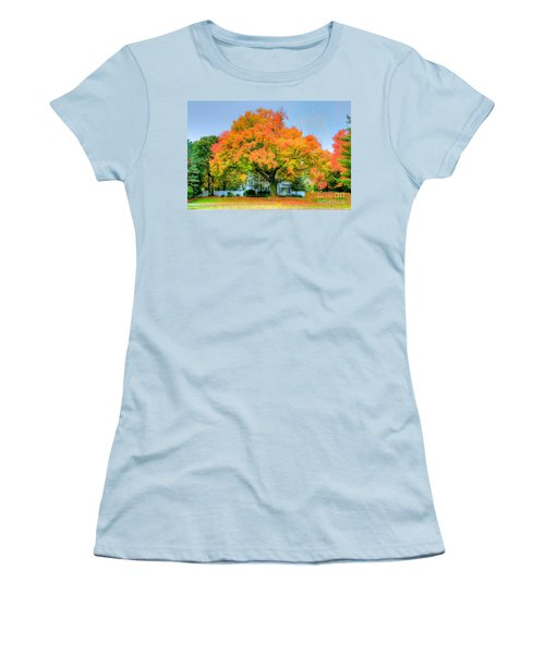 Women's T-Shirt (Junior Cut) featuring the photograph The Family Tree In Autumn by Robert Pearson