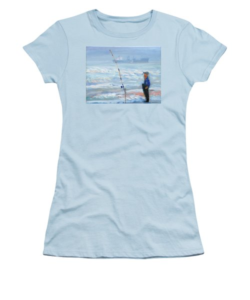 The Fishing Man Women's T-Shirt (Athletic Fit)