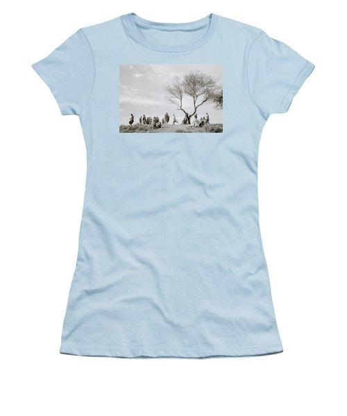 The Meeting Women's T-Shirt (Junior Cut) by Shaun Higson