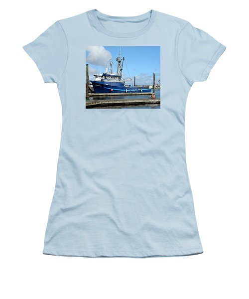The Mighty Blue Women's T-Shirt (Junior Cut) by Chalet Roome-Rigdon