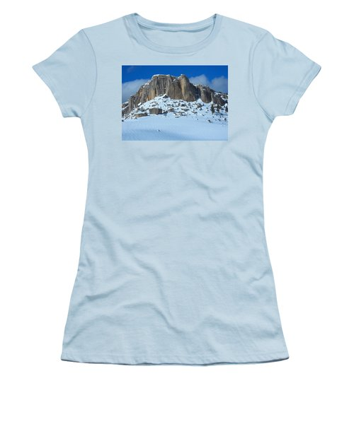 Women's T-Shirt (Junior Cut) featuring the photograph The Mountain Citadel by Michele Myers