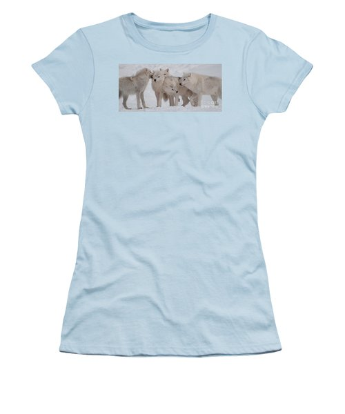 Women's T-Shirt (Junior Cut) featuring the photograph The Pack by Bianca Nadeau