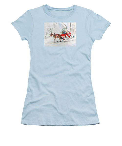 The Quiet Ride Women's T-Shirt (Junior Cut) by Beth Saffer