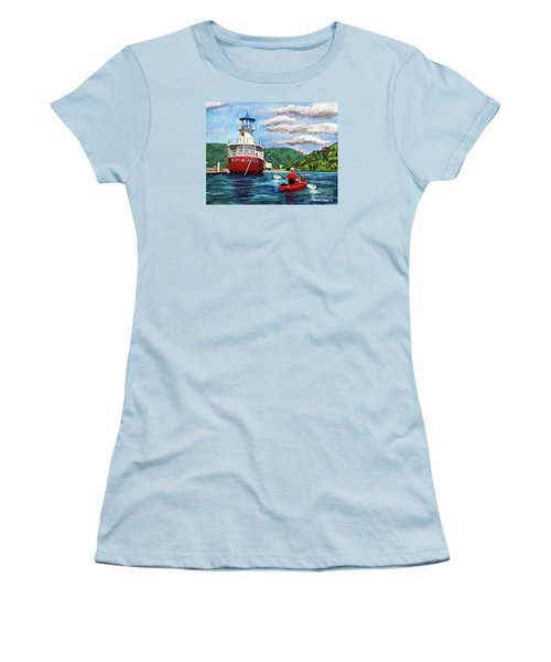 Out Kayaking Women's T-Shirt (Athletic Fit)