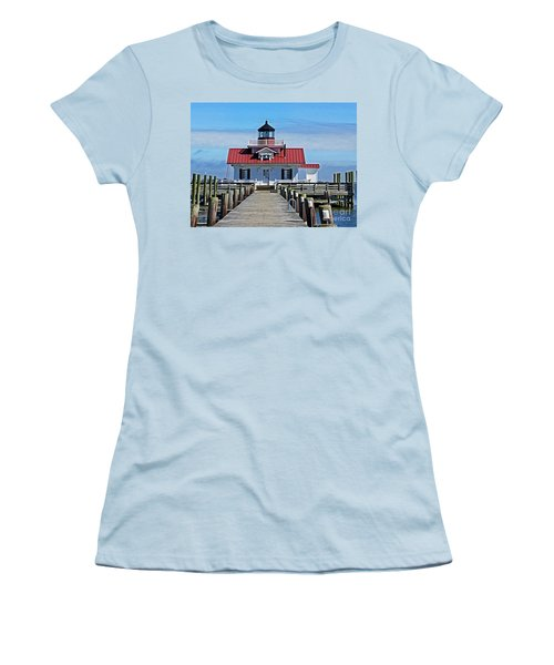The Roanoke Marshes Lighthouse  Women's T-Shirt (Athletic Fit)