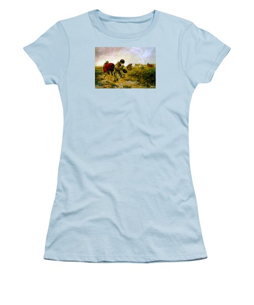 Women's T-Shirt (Junior Cut) featuring the painting The Storm by Henryk Gorecki