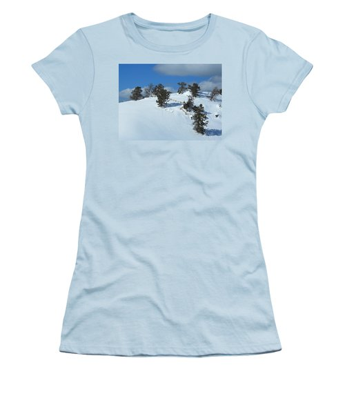 Women's T-Shirt (Junior Cut) featuring the photograph The Trees Take A Snow Day by Michele Myers