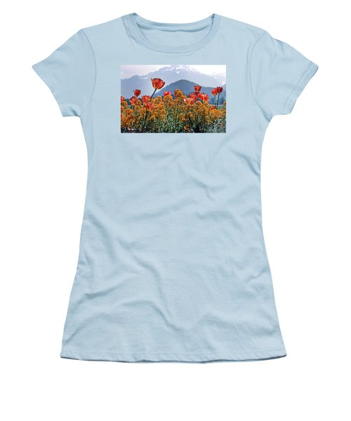 The Tulips In Bloom Women's T-Shirt (Athletic Fit)