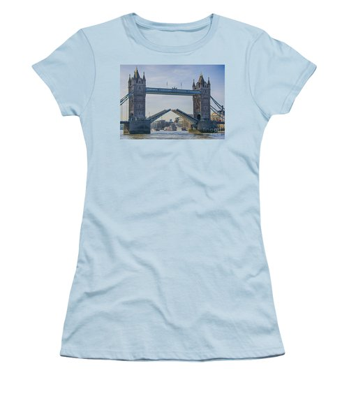 Tower Bridge Opened Women's T-Shirt (Athletic Fit)