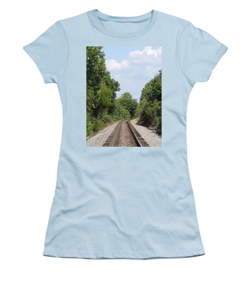 Women's T-Shirt (Junior Cut) featuring the photograph Traxs To Anywhere by Aaron Martens