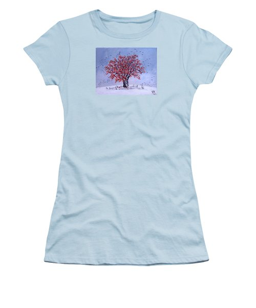 Women's T-Shirt (Junior Cut) featuring the painting Tree Of Life by Nina Mitkova