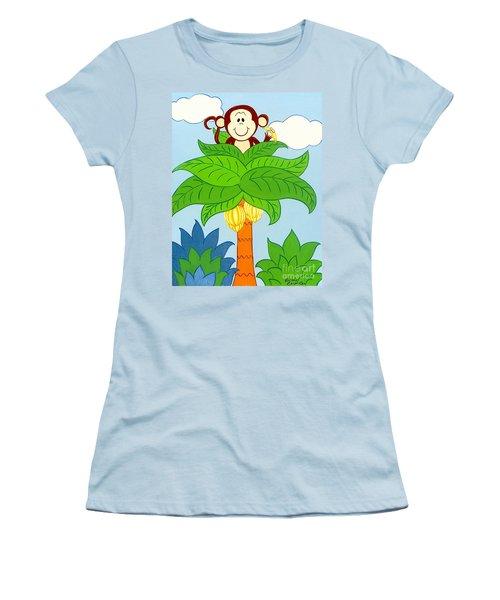 Tree Top Monkey Women's T-Shirt (Athletic Fit)