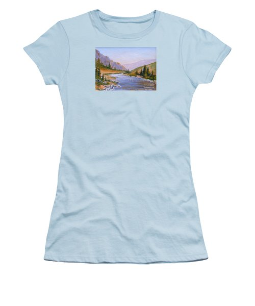 Trout Stream Women's T-Shirt (Athletic Fit)