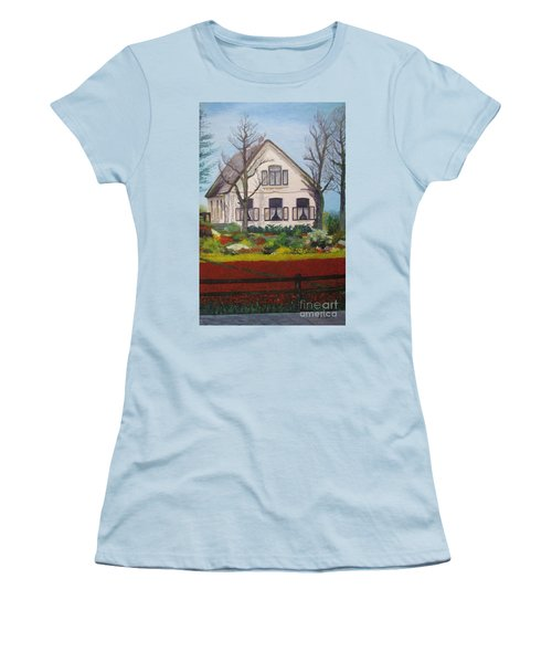 Tulip Cottage Women's T-Shirt (Athletic Fit)