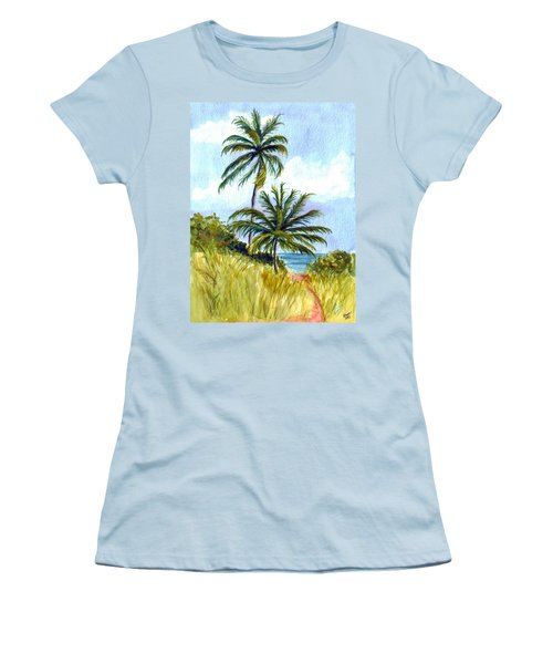 Two Palms Women's T-Shirt (Athletic Fit)