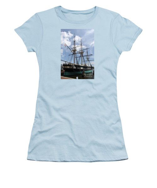 U S S  Constellation Women's T-Shirt (Junior Cut) by Christiane Schulze Art And Photography