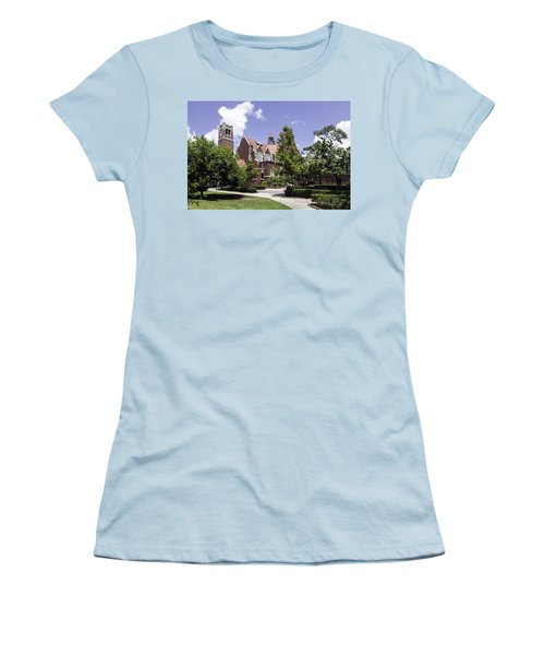 Uf University Auditorium And Century Tower Women's T-Shirt (Athletic Fit)
