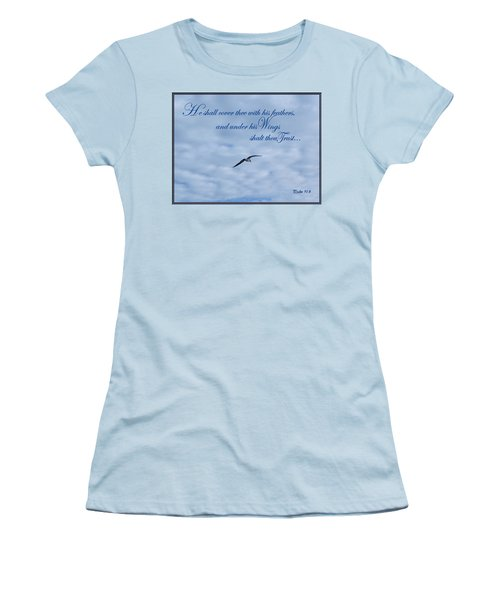 Under His Wings Women's T-Shirt (Junior Cut) by Larry Bishop