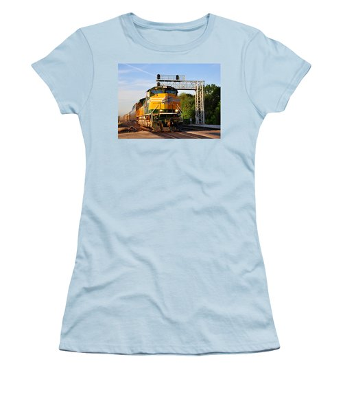 Union Pacific Chicago And North Western Heritage Unit Women's T-Shirt (Athletic Fit)