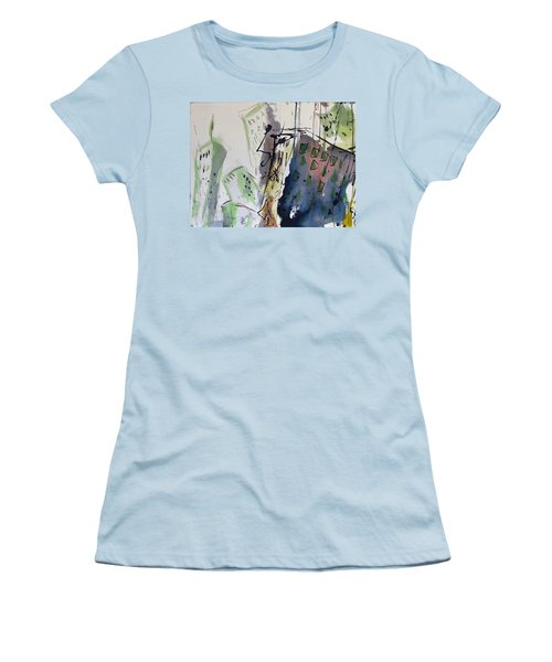 Women's T-Shirt (Junior Cut) featuring the painting Uptown by Robert Joyner